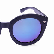 Unisex Vintage Round Frame Sunglasses Colorful Mirrored Glasses