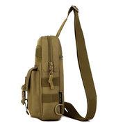 Мужчины Crossbody нейлоновая сумка Камуфляж Грудь пакет Forest Дорожная сумка