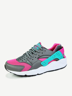 Big Size Running Sport Lace Up Casaul Mesh Breathable Shoes