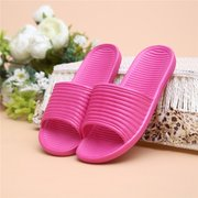 Candy Color Indoor Home Flat Slip On Open Toe Slippers For Women