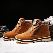 Men's Suede British High Top Warm Fur Lining Casual Ankle Boots