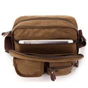 Ekphero Многофункциональный универсальный натуральная кожа Холст сумка Ipad Crossbody сумка