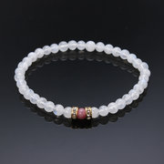 4mm Crystal Bracelet Moonstone Adularia Pure Natural Crystal Bracelet