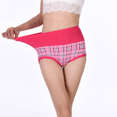 Sexy Seamless Printing Belly Control Panties High Waist Underwear For Women