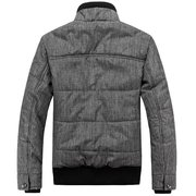 Men's Winter Fahsion Casual Stand Collar Thick Warm Cotton Jacket