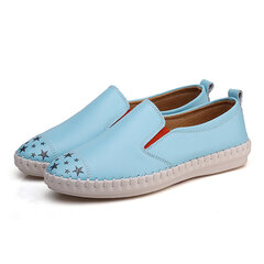 Ladies Casuall Flat Shoes Soft Round Toe Shoes Simple Slip On Loafers