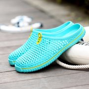 Men Beach Hollow Out Slip On Flat Breathable Slippers