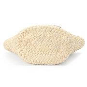 Women Casual Stylish Beach Bags White Corn Husk Weaving Bag Shoulder Bags