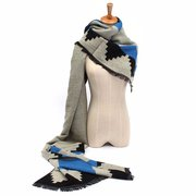 Womens Mixed Colors Double-sided Cashmere Checked Plaid Pashmina Scarf Wrap Shawl