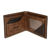 ADENGCHI Men Leather Business Retro Wallet Causal Card Holder