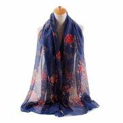 Женщины Роза Шелковый Вуаль шарфы вскользь Открытый Солнцезащитный Теплая шаль
