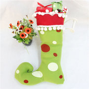 Decoration Polyester Tree Hanging Socks Christmas Gift Boots Stockings Crafts