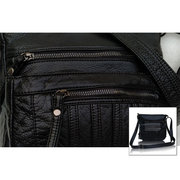 Women Casual Washable Leather Multi-pocket Shoulder Bags Crossbody Bags