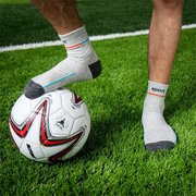 Men's Cotton Blend Breathable Anti-friction Sports Colors Patchwork Middle Tube Socks