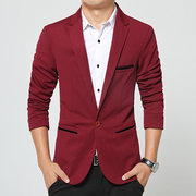 Plus Size 5 Colors Casual Business Fashion Comfortable Slim Fit Blazers for Men