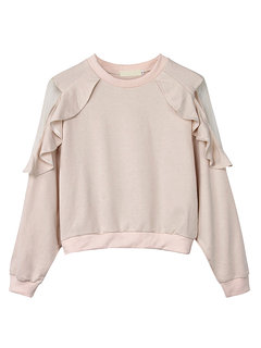 Women Fashion Elegant Batwing Sleeve Lotus Pure Color Round Neck Blouse
