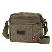 Men Casual Canvas Vintage Multi-pocket Shoulder Bags Crossbody Bags