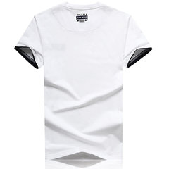 Summer Casual Cotton O-Neck Short Sleeve Plus Size T-shirt For Men