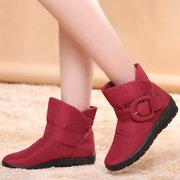 Big Size Buckle Ankle Waterproof Soft Light Warm Fur lining Boots