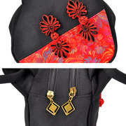 Women Chinese National Style Contrast Color Totes Handbags