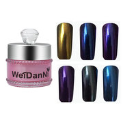 Magic Mirror Chrome Effect Powder Metallic Nail Art Additive Pigment Charming 12 Colors To Choose