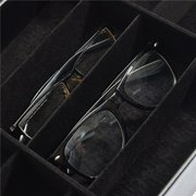 12 Grids Black Color Artificial Leather Sunglass Glassess Display Storage Box Tray