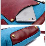 Women Casual Canvas Phone Bags Card Bag Shoulder Bag Crossbody Bags