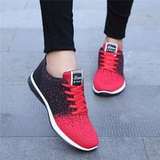 Red Sport Mesh Running Training Dot Casual Lace Up Flat Breathable Sneakers