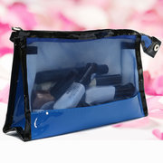4 Colors Multifunctional PVC Travel Cosmetic Bag Makeup Case Wash Organizer Storage Pouch With Mirror