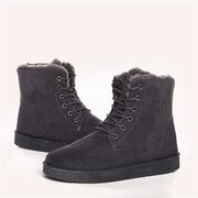 Suede Fur Lining Lace Up Casual Keep Warm Boots For Men