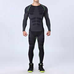 Traning Elastic Quick-drying Breathable Sports Fitness Tights Long Sleeve T-shirt for Mens