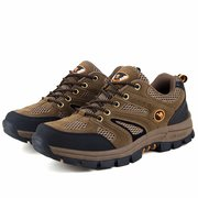 Men Mesh Breathable Anti Skip Lace Up Outdoor Hiking Shoes