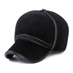 Men Women Faux Mink Fur Earflap Earmuffs Baseball Cap Outdoor Ear Protective Hat