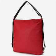 Women Casual Pure Color PU Leather Crossbody Bags Shoulder Bags Backpack
