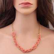 Winding Bead Statement Alloy Women Necklace