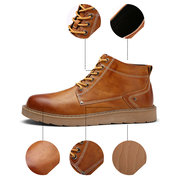 Men's British  Work Shoes Casual Classic Lace Up Ankle Boots