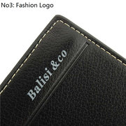 Men Vintage Retro Pure Color Casual Short Wallet Card Holder Purse
