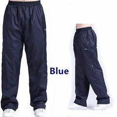 Plus Size Pants Winter Elastic Waist Loose Fit Thick Warm Fleece Lined Casual Pants for Men