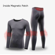 Two Pieces Pajamas Set Magnetic Energy Long Sleeve Thermal Pajamas for Men