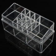 Double Acrylic Clear Organiser Cosmetic Jewellery Display Drawers Storage Box