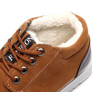 Cotton Ankle Warm Fur Lining Lace Up Casual Boots For Men
