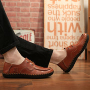 Men Casual Shoes Fashionable Wear-Resisting Sewing Shoes Male Wild Flat Shoes