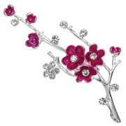 Rhinestone Plum Blossom Brooches Pin