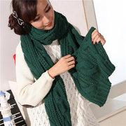 Длинные пашмины Шерсть Теплый вязать шарф шаль Женщины Толстый зимние шарфы
