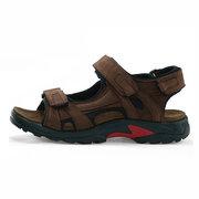 Big Size Men Leather Hook Loop Summer Outdoor Beach Sandals