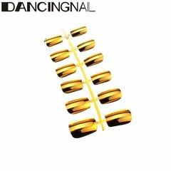 DANCINGNAIL 1 шт Металлические накладные ногти Art Советы французский короткий параграф 6 Размеры