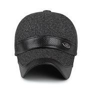 Men Women Cotton Leather Earflap Earmuffs Baseball Cap Adjustable Golf Outdoor Hat