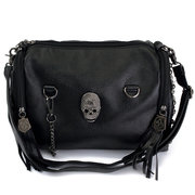 Women Rivet Skull Leather Crossbody Bag Casual Leisure Shoulder Bag