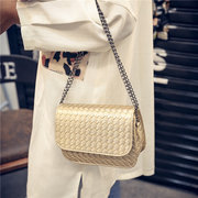 Women Simple Quilting Leather Chain Bag