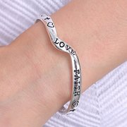 Silver Plated Stamped English Letter Bracelet